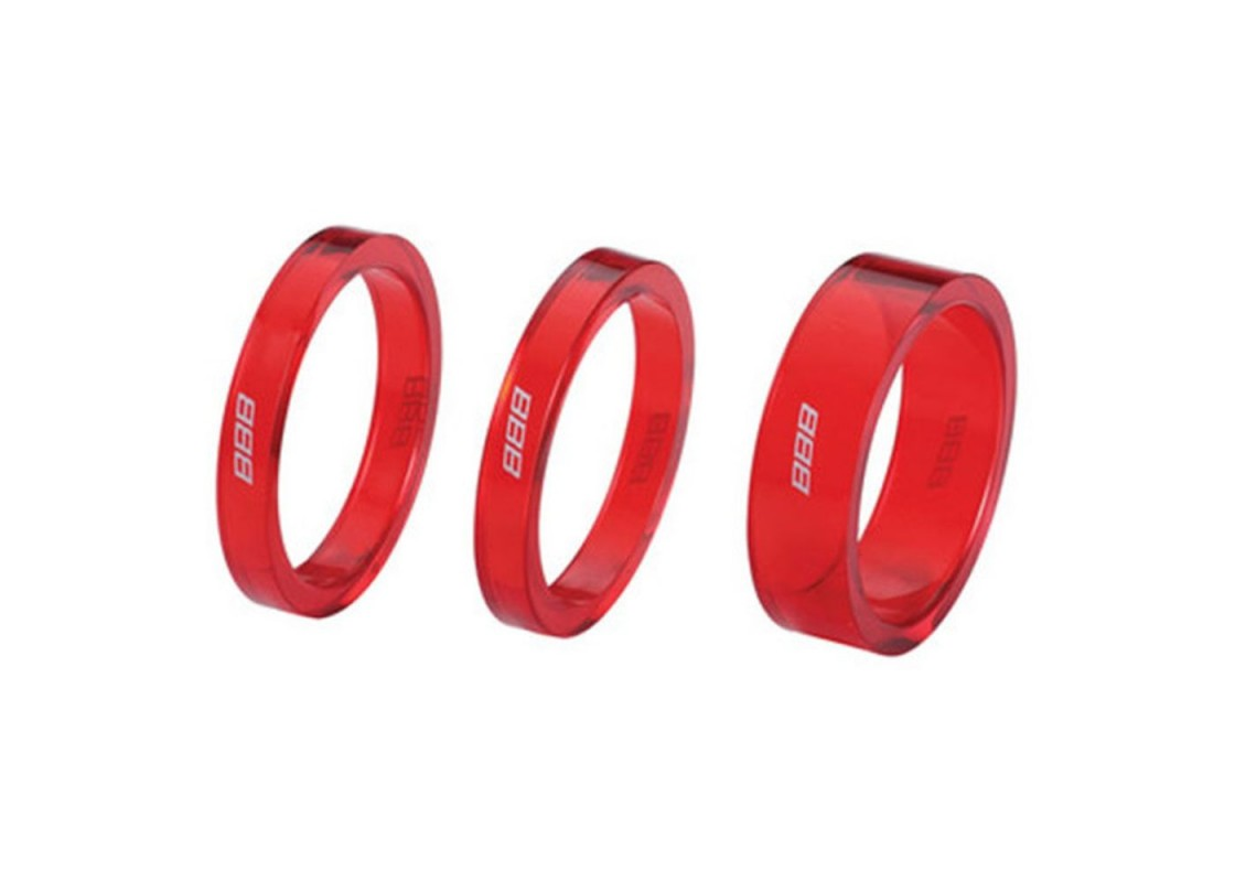 BHP-37 Αποστάτες λαιμού 2Χ5mm 1Χ10mm κόκκινα Ανταλλακτικά Ποδηλάτων zeussa.gr