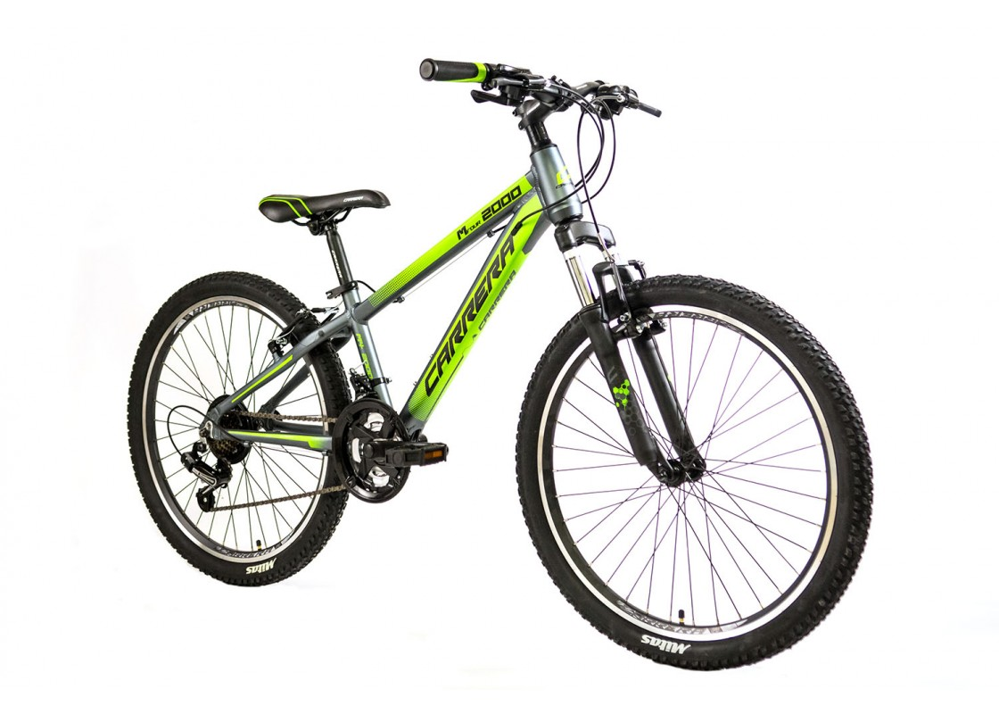 Carrera M4 2000 VB MTB 24x12 Γκρι-Πράσινο 2020 Ποδήλατα zeussa.gr