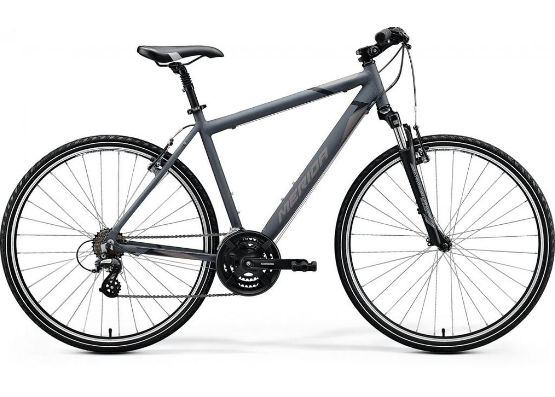 Ποδηλατα Δρομου Χωμα - Ποδηλατα - Merida Crossway 10V 700x48 Γκρι Ματ (Μάυρο-Γκρι) 2020 Ποδήλατα zeussa.gr