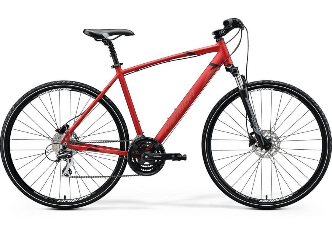 Ποδηλατα Δρομου Χωμα - Ποδηλατα - Merida Crossway 20D 700x52 Κόκκινο Ματ (Μάυρο-Κόκκινο) 2020 Ποδήλατα zeussa.gr