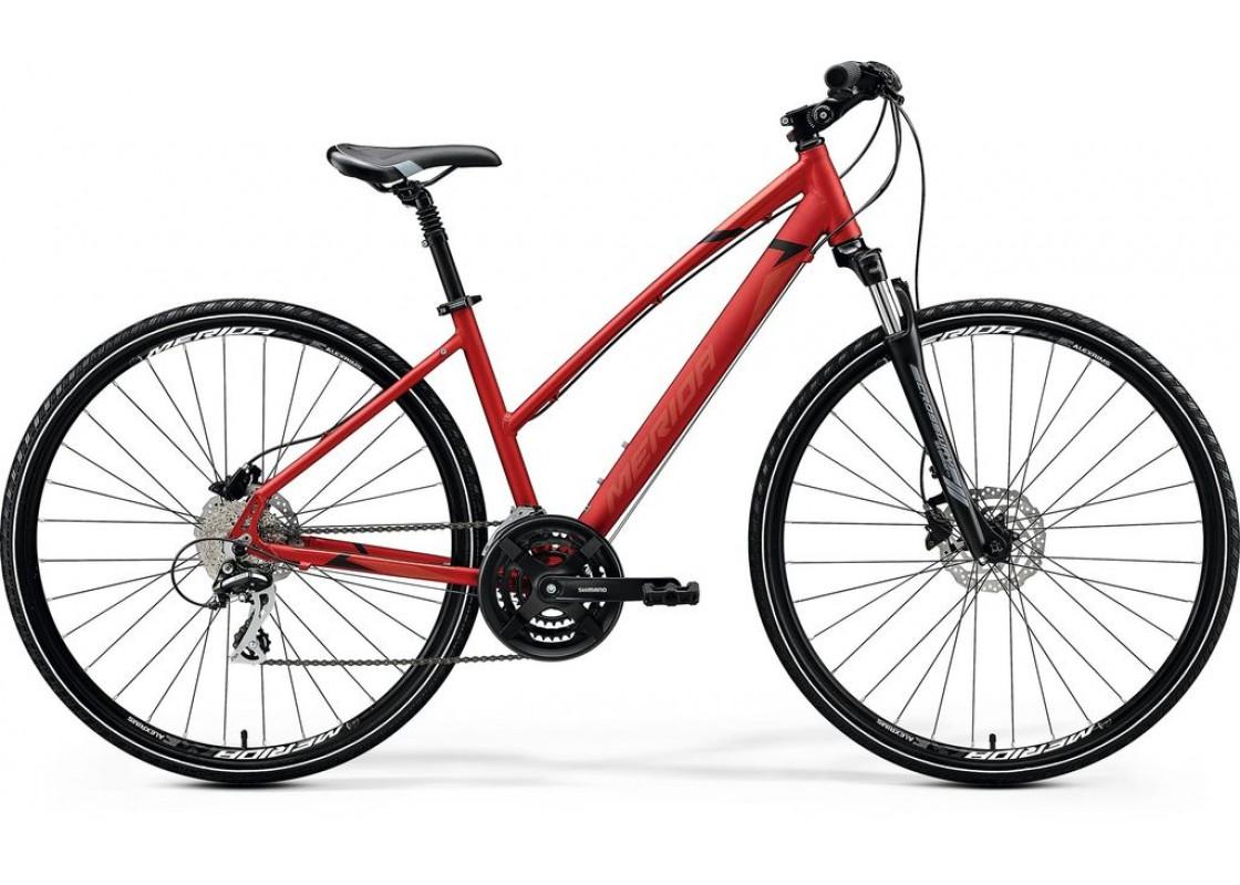 Ποδηλατα Δρομου Χωμα - Ποδηλατα - Merida Crossway 20D 700x42L Κόκκινο Ματ (Μάυρο-Κόκκινο) 2020 Ποδήλατα zeussa.gr