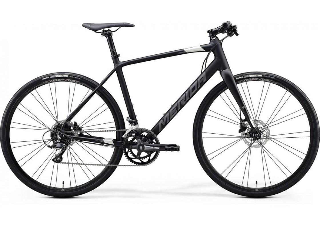 Merida Speeder 200  700x59  Μαύρο Ματ- Ασημί 2020 Ποδήλατα zeussa.gr