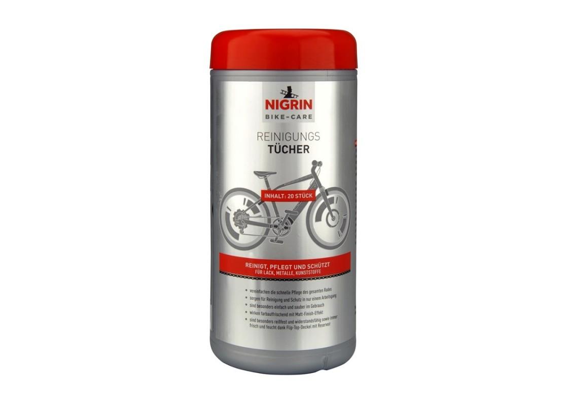 Καθαριστικά μαντιλάκια Nigrin 20τεμ Ανταλλακτικά Ποδηλάτων zeussa.gr