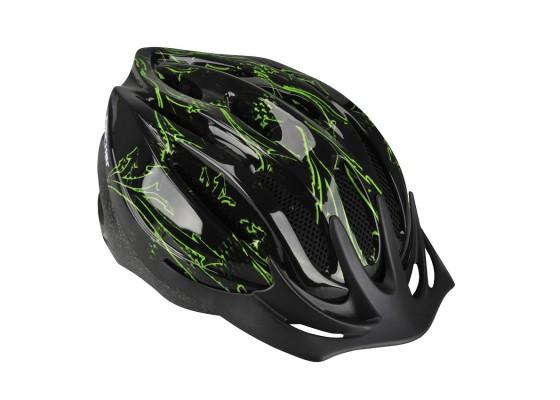 Κράνος εφηβικό Fischer μαύρο-πράσινο L-XL