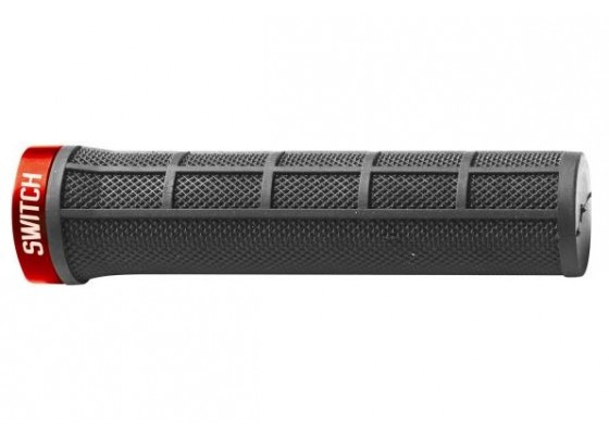 GRIPS WITH LOCK BLACK/RED