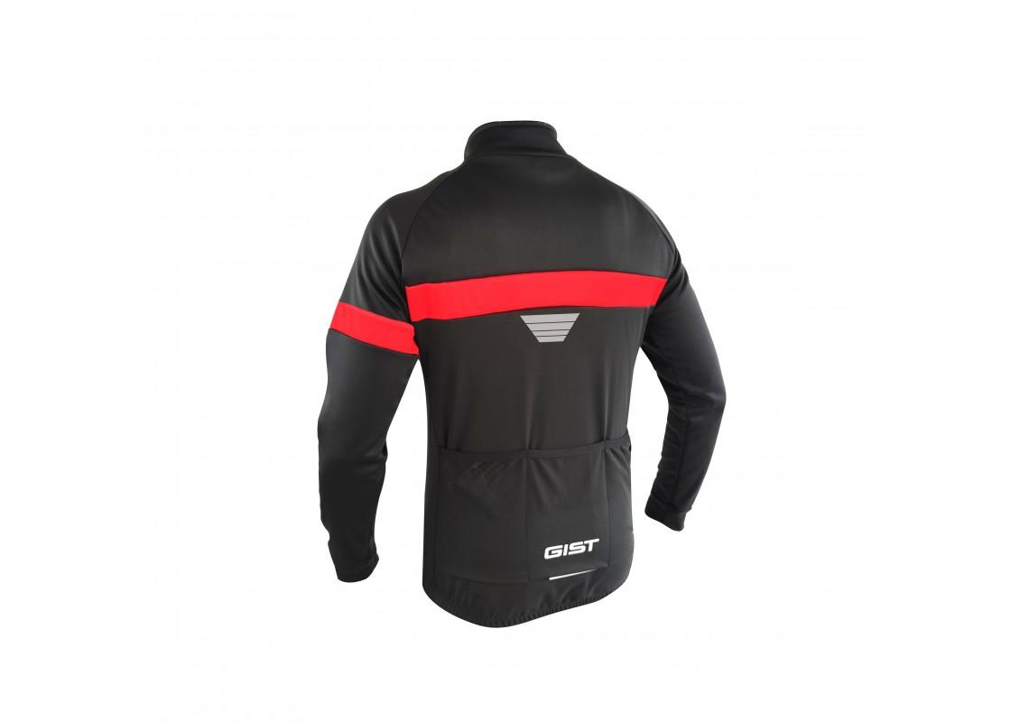 Μπλούζα Gist χειμερινή 5408 μαυρο/κόκκινο S Μπλούζες zeussa.gr