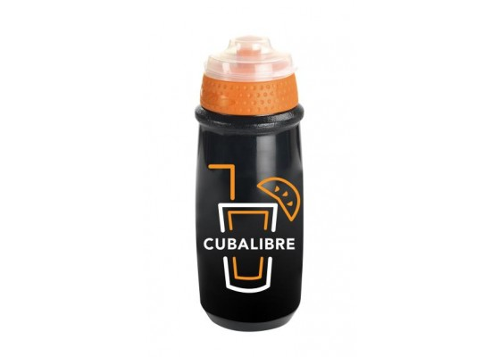 Παγούρι πλαστικό 550ml μαυρο-πορτοκαλι