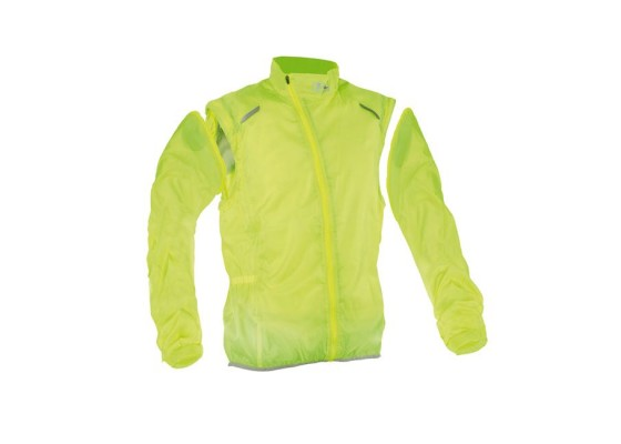 Windstop-water resist vest L yellow flow