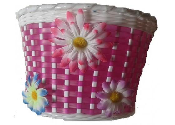 Καλάθι παιδικό πλαστικό με λουλούδια