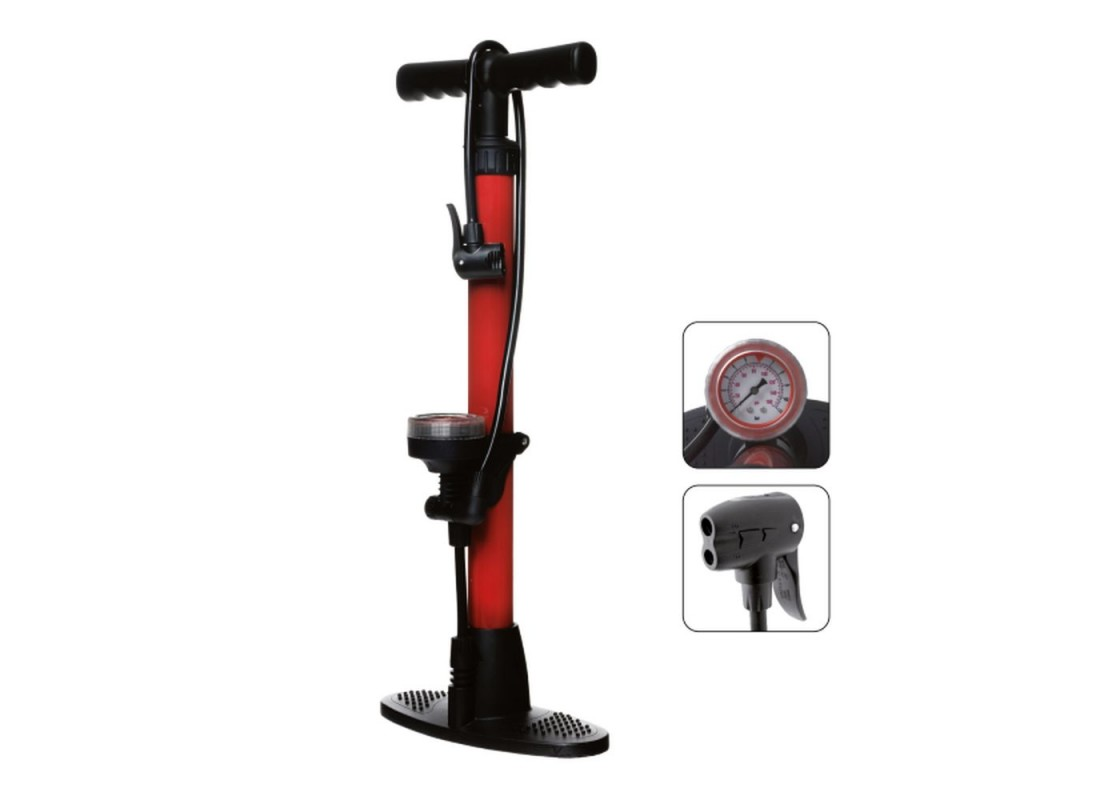 BTA metal Floor pump red  Accessories zeussa.gr