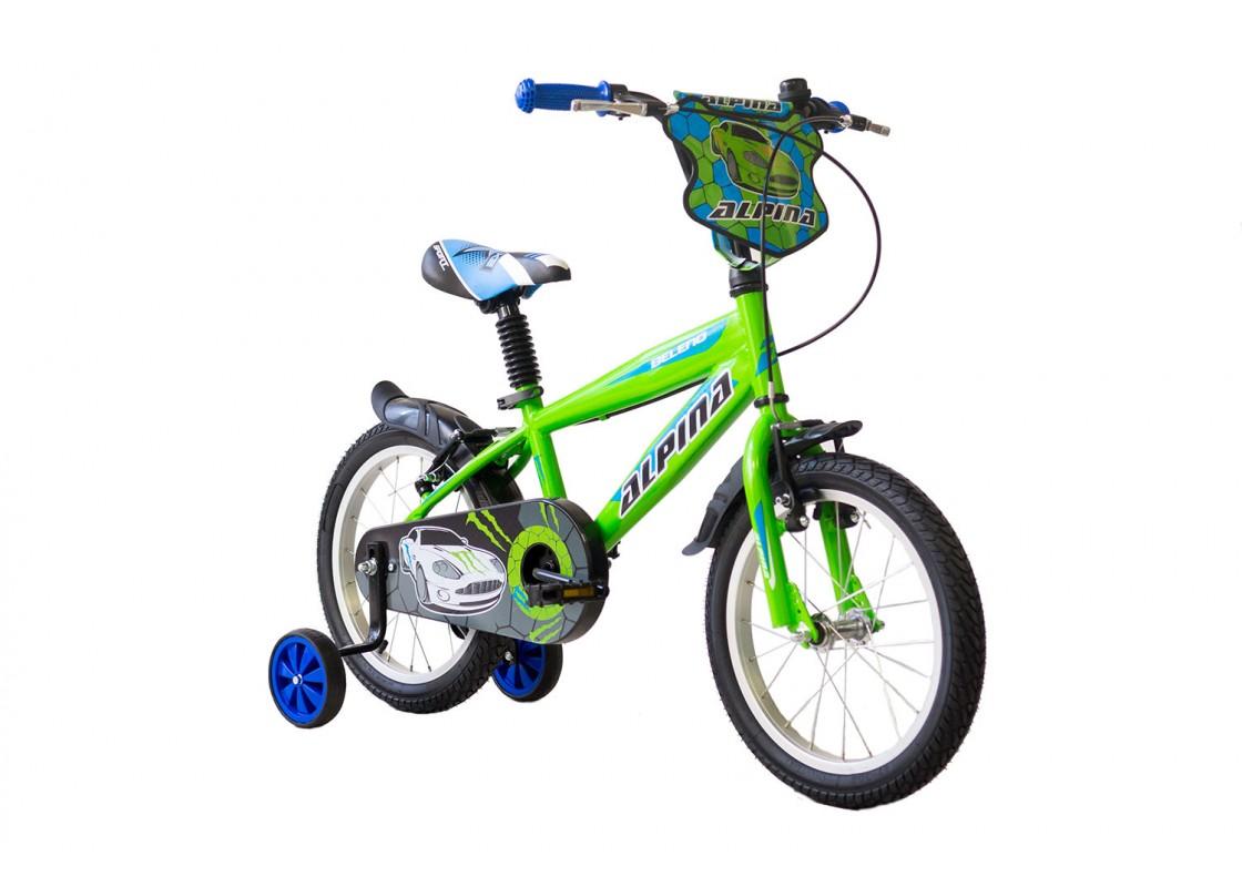 Ποδηλατα Παιδικα - Ποδηλατα - Alpina Beleno VB 14 Πράσινο-Μπλε Ποδήλατα zeussa.gr