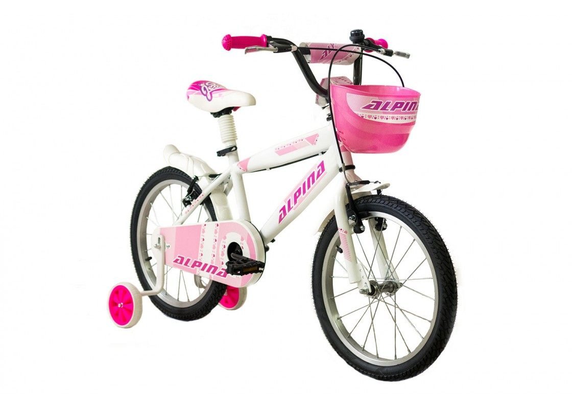 Ποδηλατα Παιδικα - Ποδηλατα - Alpina Beleno VB 18 Λευκό-Ροζ Ποδήλατα zeussa.gr