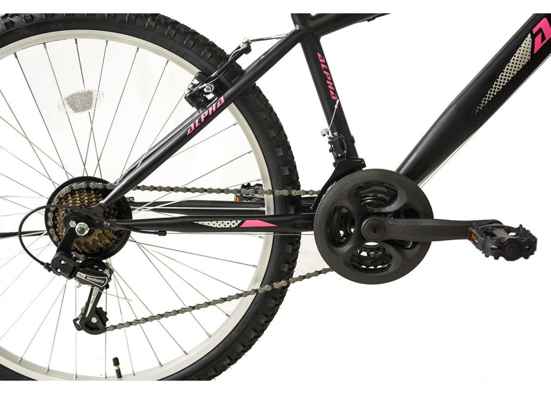 Ποδηλατα Βουνου - Ποδηλατα - Alpina Alpha S MTB 26x14.5 Μαύρο-Ροζ Ποδήλατα zeussa.gr