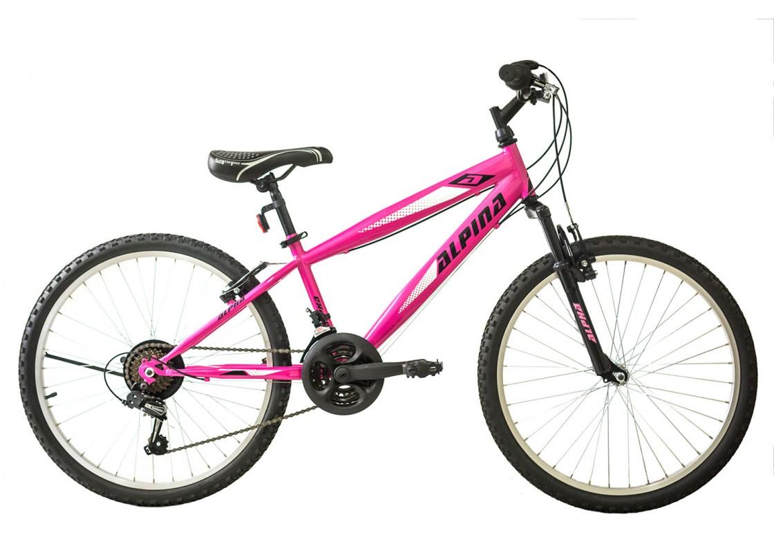 Ποδηλατα Παιδικα - Ποδηλατα - Alpina Alpha S MTB 24x12 Ροζ-Λευκό Ποδήλατα zeussa.gr