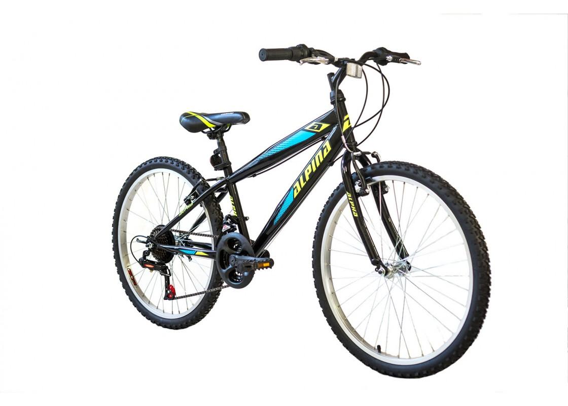 Ποδηλατα Παιδικα - Ποδηλατα - Alpina Alpha MTB 24x12 Μαύρο-Πράσινο Ποδήλατα zeussa.gr