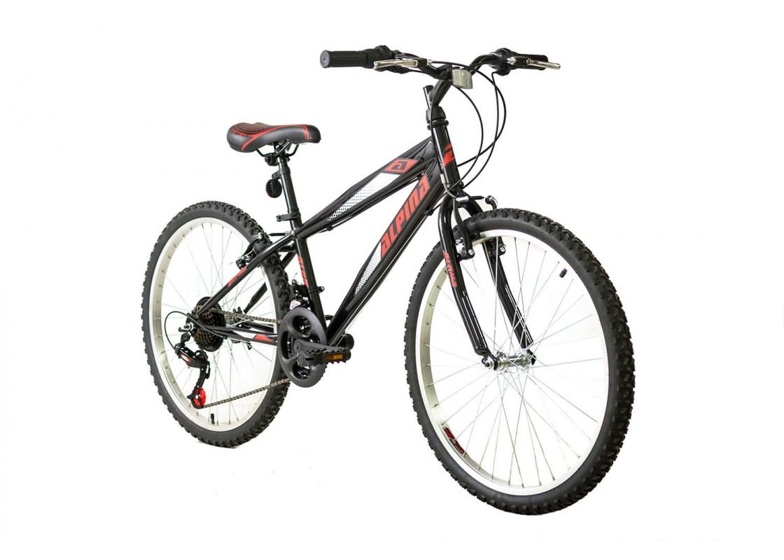 Ποδηλατα Παιδικα - Ποδηλατα - Alpina Alpha MTB 24x12 Μαύρο-Κόκκινο Ποδήλατα zeussa.gr