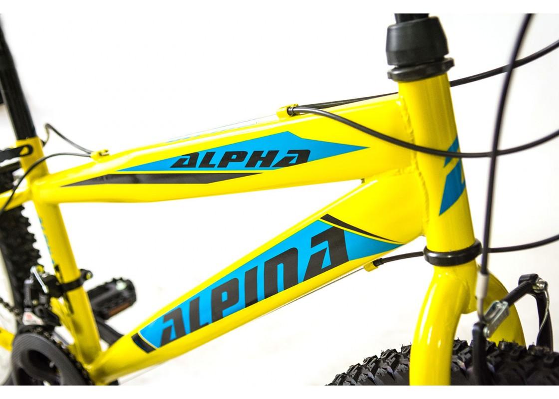 Alpina Alpha MTB 26x14.5 Κίτρινο-Μπλε